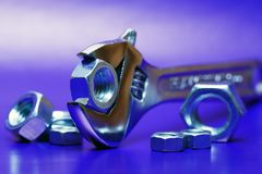 Spanner And Screw Nuts Stock Images