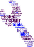 Spanner tagcloud Royalty Free Stock Photo