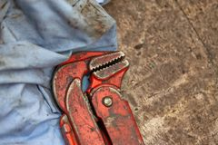 Spanner in a workshop Royalty Free Stock Images