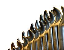 Spanners. Isolated Spanners royalty free stock photography