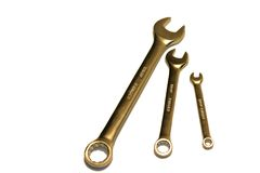 Spanners. Isolated Spanners royalty free stock images