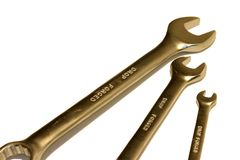 Spanners. Isolated Spanners stock photo