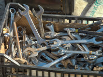 Spanners in a container Stock Photos