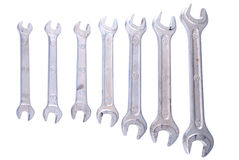 Spanners isolated on white background Stock Images
