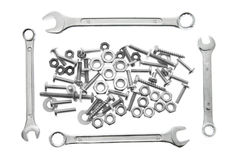 Spanners, Nuts and Bolts Stock Photos
