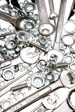 Spanners, nuts and bolts Royalty Free Stock Photo
