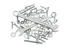 Spanners, Nuts and Bolts Stock Photography