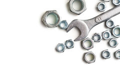 Spanners and nuts Stock Photography