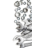 Spanners and nuts Stock Images
