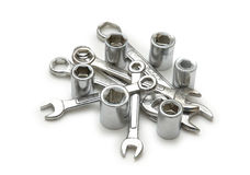 Spanners Of Various Sizes Stock Images