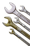 Spanners set Royalty Free Stock Images