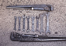 Spanners and wrenches Royalty Free Stock Photos