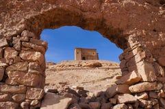 Spannmålsmagasinet uppe på Ait Ben Haddou Royaltyfria Bilder