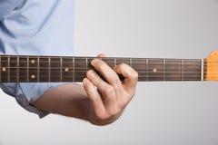 Spannweite der elektrischen Gitarre lizenzfreie stockbilder