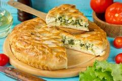 Spanokopita greek spinach pie Royalty Free Stock Photos