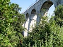 Spans railway viaduct bridge . Royalty Free Stock Images