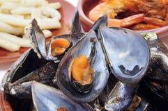 Spansih seafood tapas Stock Image