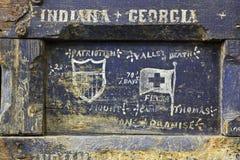 Spansk amerikansk krigsoldat Box Royaltyfria Foton