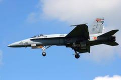 Spansk bålgeting för flygvapen F-18 Fotografering för Bildbyråer