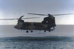 Spansk Boeing Chinook ARMÉ Arkivfoto