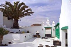 Spansk borggård Arkivfoto
