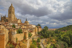 Spansk bygd (Segovia) Royaltyfria Bilder
