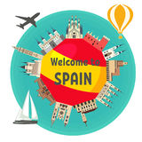 Spansk dragning royaltyfri illustrationer