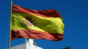Spansk flagga i vind lager videofilmer