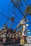 Spansk gallion Neptun i Genua port Royaltyfria Bilder