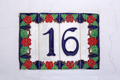 Spansk gata nummer 16 Royaltyfria Foton