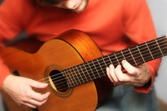 Spansk gitarrman royaltyfria foton