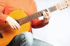 Spansk gitarrman royaltyfri foto