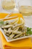 Spansk kokkonst. Djupa Fried Seafood. Pescaito Frito. Arkivbild