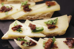 Spansk kokkonst, osttapa Royaltyfria Bilder