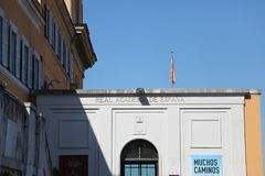 Spansk kunglig akademi i Rome Italien Fotografering för Bildbyråer