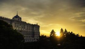 Spansk kunglig slott Fotografering för Bildbyråer