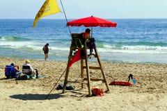 Spansk livräddare, Benidorm, Spanien Royaltyfria Bilder