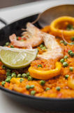 Spansk mat: paella Royaltyfri Bild