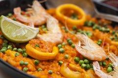 Spansk mat: paella Arkivbilder