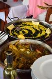 Spansk matlagning arkivfoto