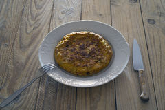 Spansk omelett Royaltyfria Bilder