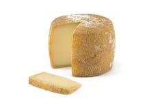 Spansk ost på isolerad bakgrund Royaltyfria Foton