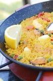 Spansk paella Royaltyfri Bild