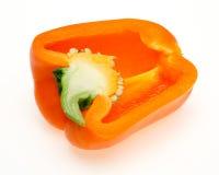Spansk peppar i en vit bakgrund Arkivbild