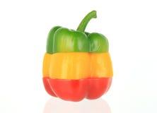 Spansk peppar på White Royaltyfri Foto