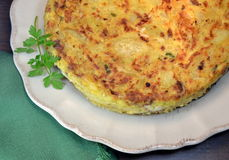 Spansk potatisomelett Royaltyfria Bilder