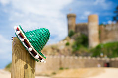 Spansk sombrero i Tossa de Mar Fotografering för Bildbyråer