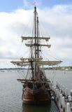 Spansk spansk gallion på skeppsdockan Royaltyfri Bild