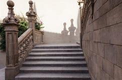 Spansk stad (Poble Espanyol) - arkitektoniskt museum under den öppna himlen Royaltyfri Bild