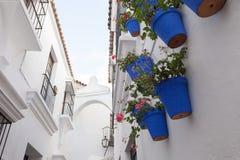 Spansk stad (Poble Espanyol) - arkitektoniskt museum under den öppna himlen Arkivfoton